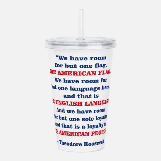 PRES26 ONE FLAG Acrylic Double-wall Tumbler