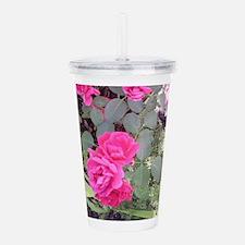 Nature's Beauty _Rose Acrylic Double-wall Tumbler