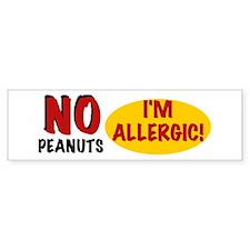 Peanut Allergy Bumper Bumper Sticker