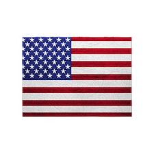 USA FLAG LEATHER 5'x7'Area Rug