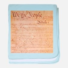 US CONSTITUTION baby blanket