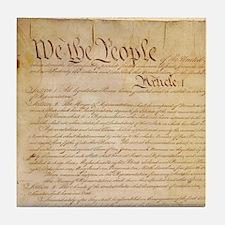 US CONSTITUTION Tile Coaster