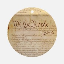 US CONSTITUTION Ornament (Round)