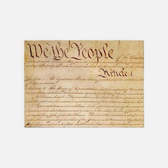 US CONSTITUTION 5'x7'Area Rug