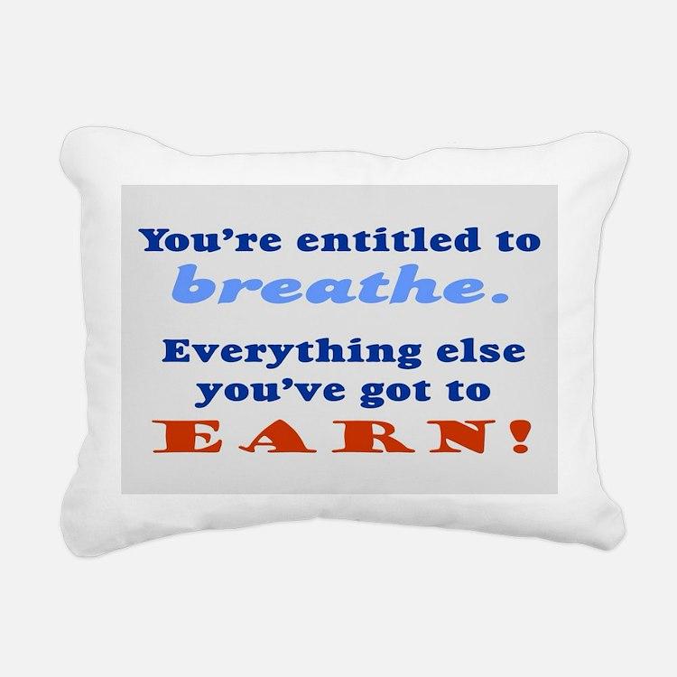 ENTITLED TO BREATHE Rectangular Canvas Pillow