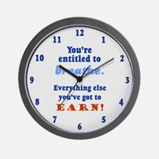 ENTITLED TO BREATHE Wall Clock