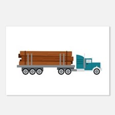 Semi Log Truck Postcards (Package of 8)