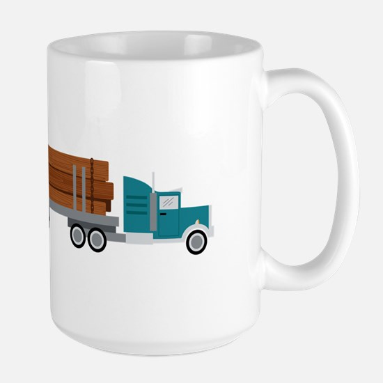 Semi Log Truck Mugs