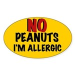 PEANUT ALLERGY Oval Sticker