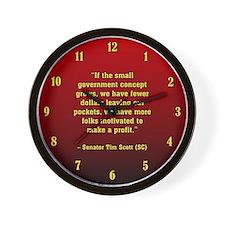 TIMSCOTT SMALLER GOVT Wall Clock