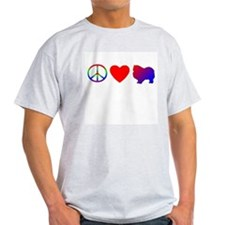 Peace, Love, Keeshond T-Shirt