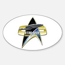 StarTrek Vogager Com badge Decal