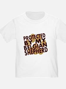 Protected By My Belgian Shepherd T-Shirt