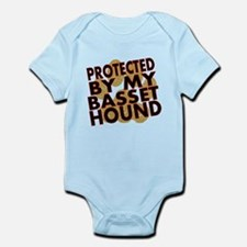 Protected By My Basset Hound Body Suit