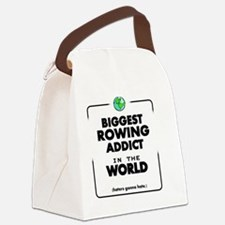 Biggest Rowing Addict in the Worl Canvas Lunch Bag
