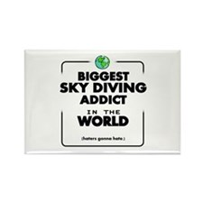 The Best in the World Sky Diving Addict Magnets