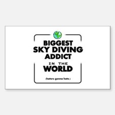 The Best in the World Sky Diving Addict Decal