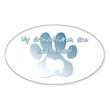 Keeshond Grandchildren Oval Decal