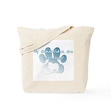 Keeshond Grandchildren Tote Bag