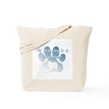 Keeshond Granddog Tote Bag