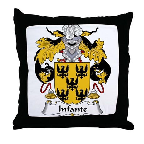 Infante Family Crest Throw Pillow