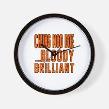 Chung Moo Doe Bloody Brilliant Designs Wall Clock