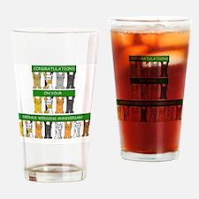 Cute 55th anniversaries Drinking Glass