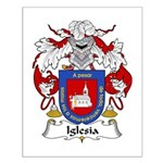 Iglesia Family Crest Small Poster