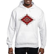 Native Red Seed Bead Design Hoodie