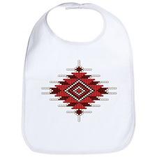Native Red Seed Bead Design Bib