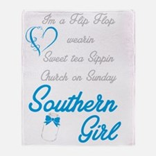 Cute Southern girl Throw Blanket
