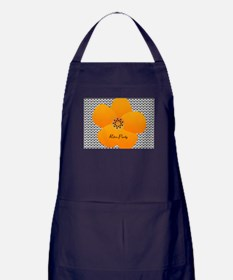 Bright Anemone Flower Apron (dark)