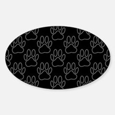 White Dog Paws In Black Background Decal