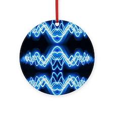 Soundwave deejay Techno music Round Ornament