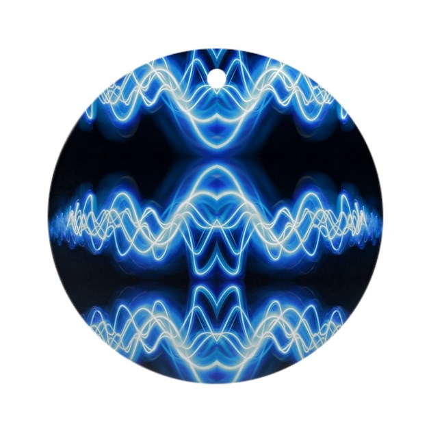Soundwave Deejay Techno Music Round Ornament By Listing