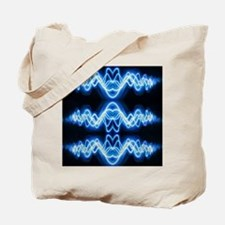 Soundwave deejay Techno music Tote Bag