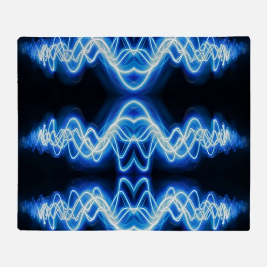 Soundwave deejay Techno music Throw Blanket