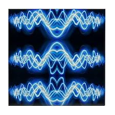 Soundwave deejay Techno music Tile Coaster