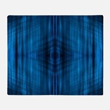 modern blue laser rays Throw Blanket