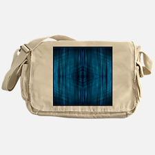 modern blue laser rays Messenger Bag