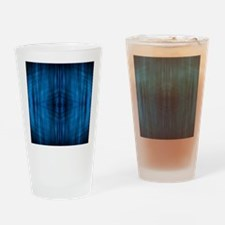 modern blue laser rays Drinking Glass