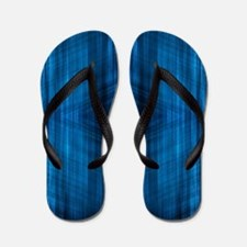 modern blue laser rays Flip Flops