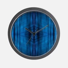 modern blue laser rays Wall Clock