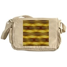 abstract gold ikat stripes Messenger Bag