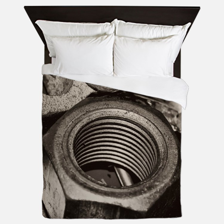 Nuts and Bolts Queen Duvet
