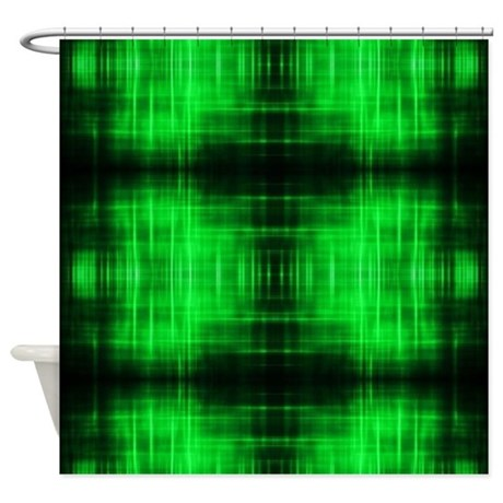 Tribal Neon Green Batik Shower Curtain