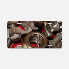 Nut Bolts and Washers Aluminum License Plate