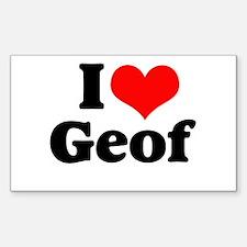 I Heart Geof Rectangle Decal