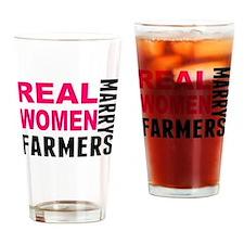 Real Women Marry Farmers Drinking Glass