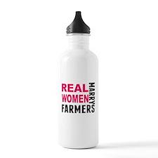 Real Women Marry Farmers Water Bottle